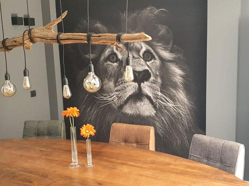 Vliesbehang leeuw